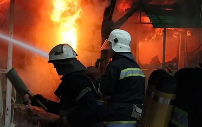 Фото: ликвидация пожара