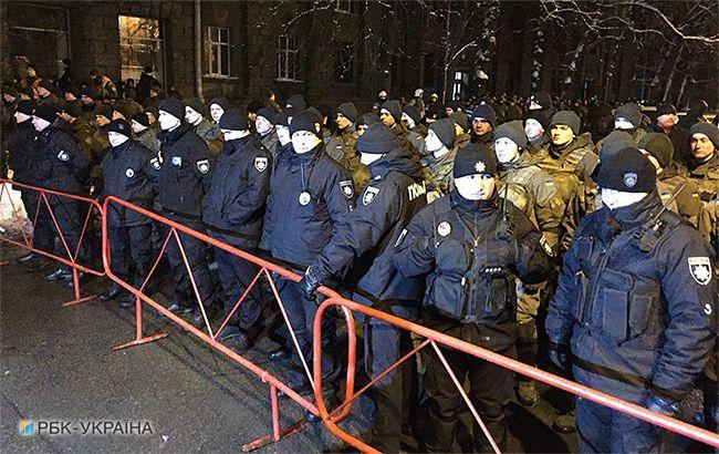 На Банковой произошла потасовка между сторонниками Саакашвили и полицией