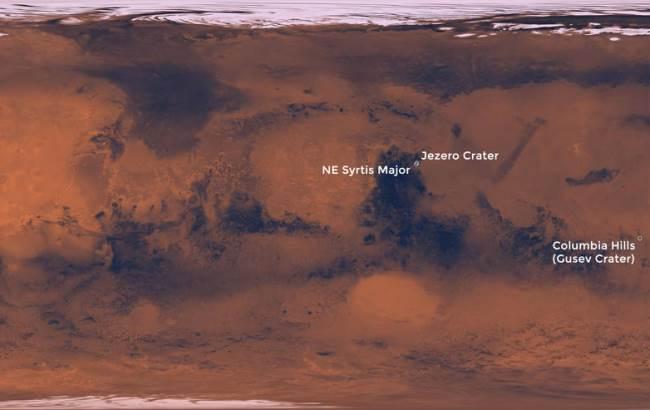 Фото: Места высадки на Марсе