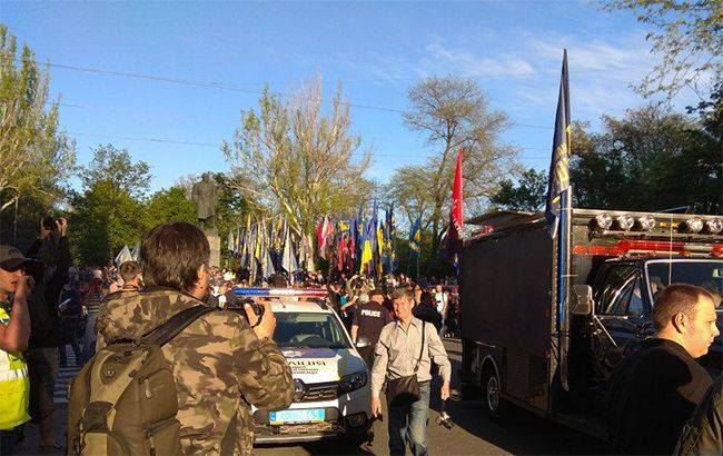 """В центре Одессы проходит """"Марш украинского порядка"""""""