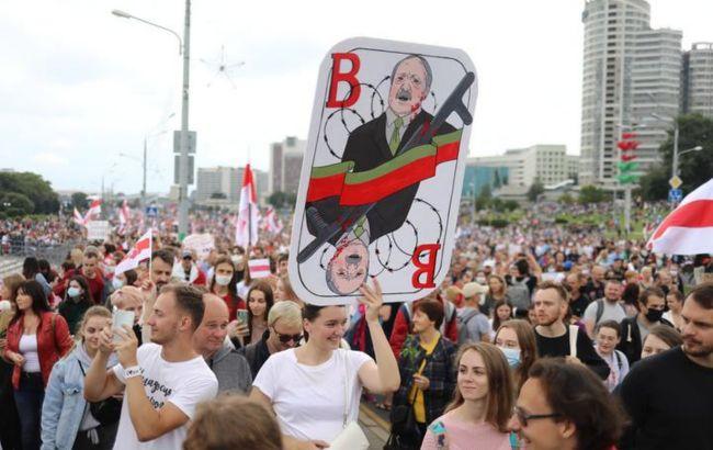 У Мінську мітингувальники пришли до резиденції Лукашенка