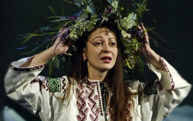 Фото: Оксана Батько-Нищук в ролі Мавки (apostrophe.ua)