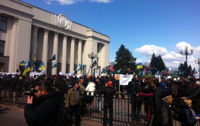 Шахтарі припинили акції протесту в Києві до понеділка