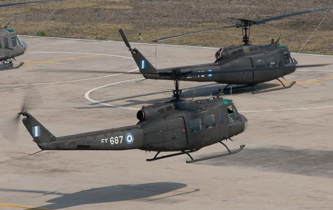 Фото: вертолет Huey UH-1H разбился на севере Греции
