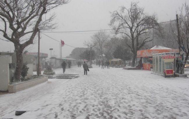 Фото: непогода в Стамбуле