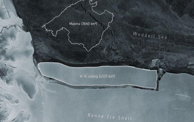 От Антарктиды откололся самый большой в мире айсберг. Он в пять раз больше Киева