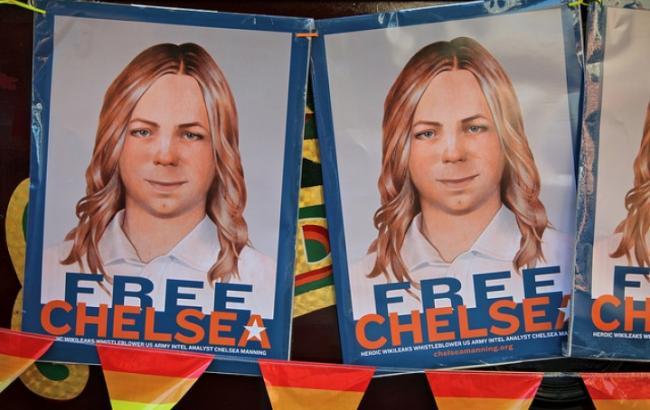 Фото: плакат на підтримку звільнення Меннінг