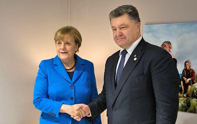 Фото: Ангела Меркель и Петр ПОрошенко (president.gov.ua)