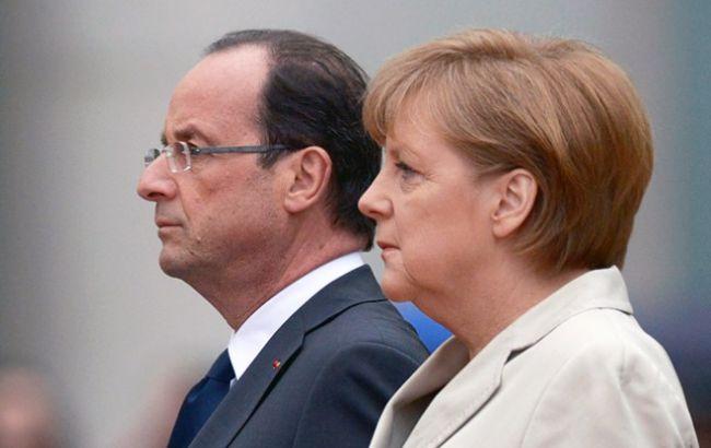 Фото: Франсуа Олланд і Меркель