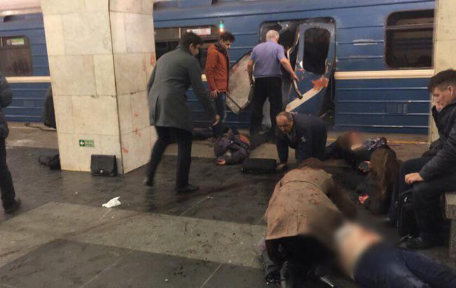 Фото: взрыв в метро Петербурга