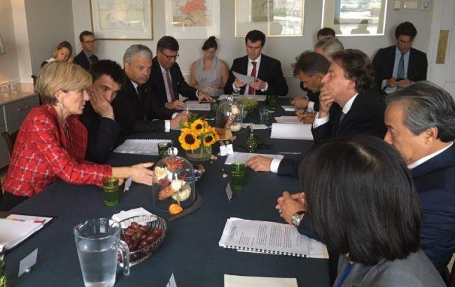Фото: глави МЗС Австралії, Бельгії, Малайзії, України та Нідерландів