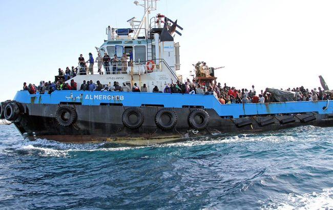 Фото: біженці прямували з Лівії до Італії