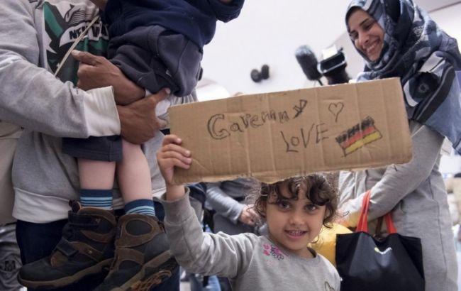 Фото: беженцы в Германии