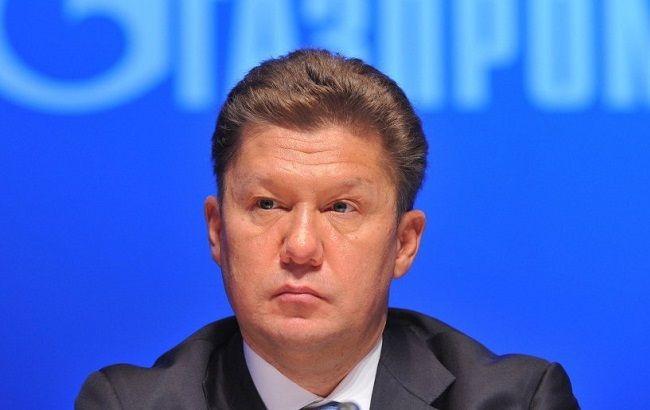 Міллер: газу для України залишилося на 5 днів