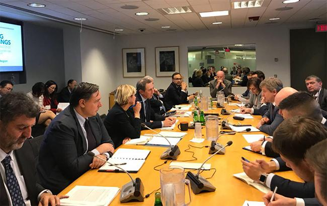 Фото: зустріч делегації України та керівництва СБ у Вашингтоні (Мінфін)