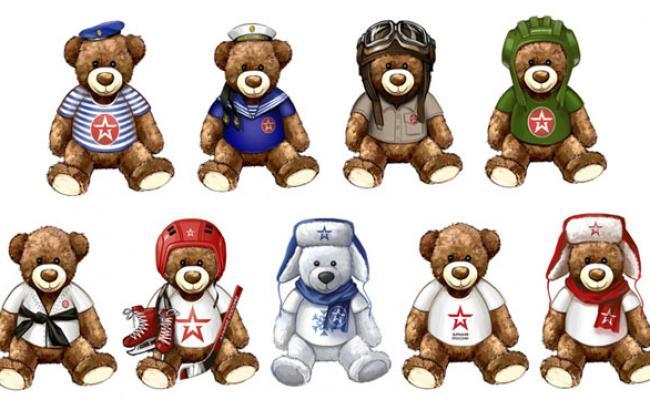 Фото: Варіанти ведмедиків від російського військторгу (gazeta.ru)