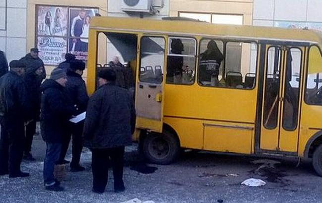Фото: у Макіївці кинули гранату в маршрутне таксі (Новини Донбасу)