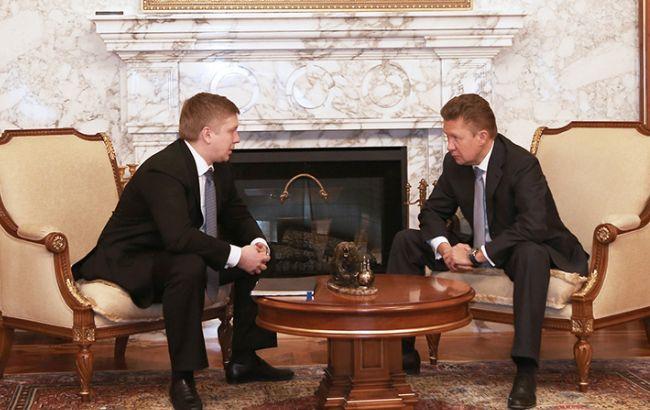 """Фото: Андрій Коболєв (""""Нафтогаз"""") і Олексій Міллер (""""Газпром"""")"""