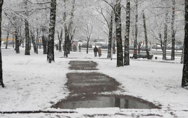 Фото: Украинцам обещают мокрый снег (facebook.com)