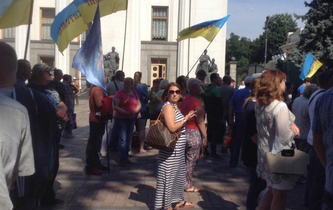 Фото: Мітинг під Радою проти запровадження касових апаратів