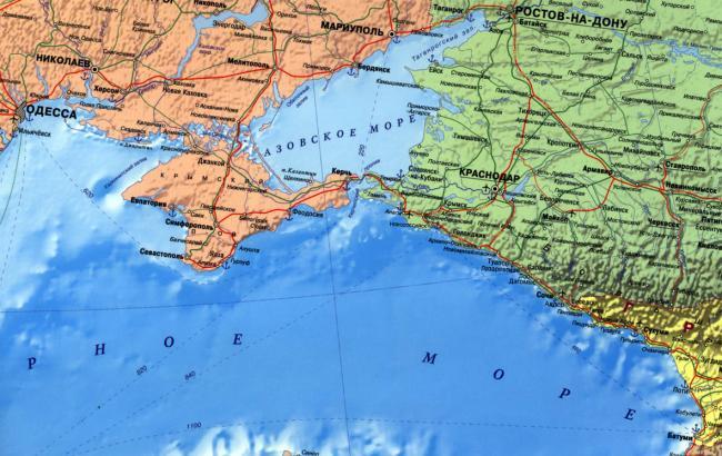 Фото: Карта з Кримом у складі України