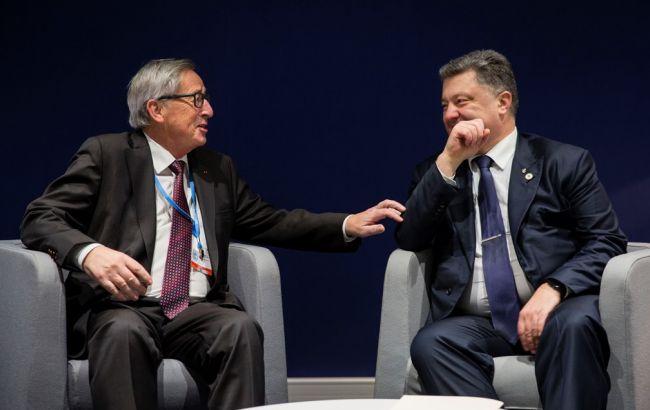 Порошенко и Юнкер обсудили усиление энергетической безопасности Украины