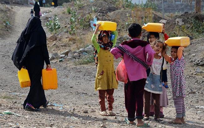 Фото: недостаток воды в Йемене (msf_yemen/twitter yemen)