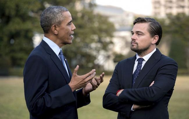 Фото: Барак Обама и Леонардо Ди Каприо (cosmopolitan.fi)