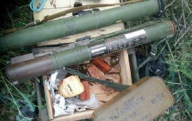 Фото: боеприпасы в зоне АТО (пресс-центр СБУ)