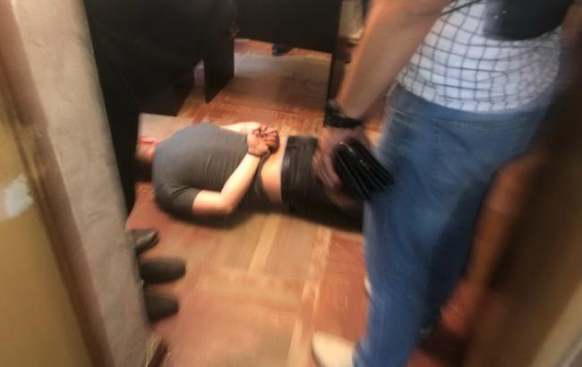 Фото: затриманий майор поліції (ssu.gov.ua)