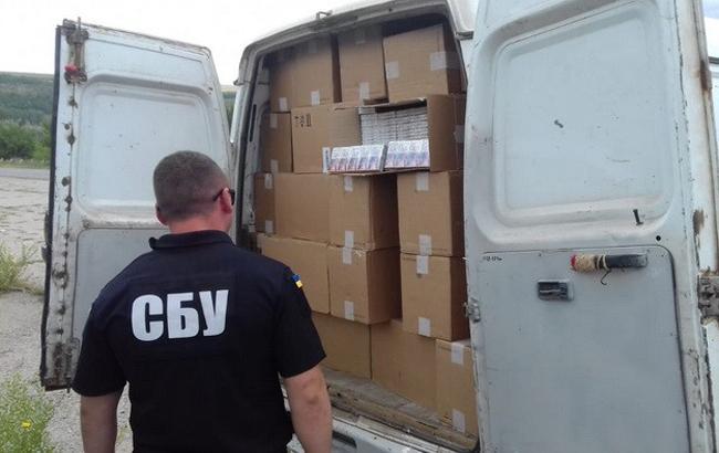 СБУ блокувала контрабанду цигарок з Придністров'я на більше ніж півмільйона гривень