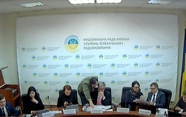 Фото: засідання Нацтелерадіо України 18 лютого
