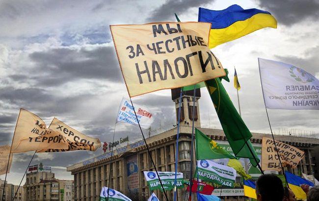 """Аграрии и """"единоналожники"""" готовы повторить налоговый майдан (фото: Андрей Товстыженко, ZN.UA)"""