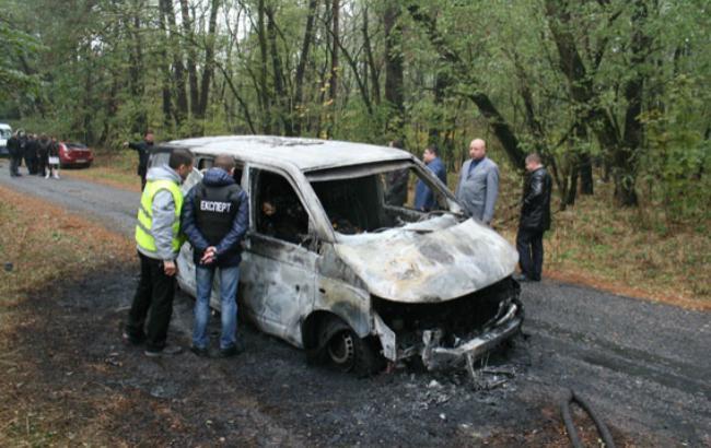 """Фото: напад на інкасаторів """"ПриватБанку"""""""