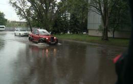 Ливень затопил улицы Днепра