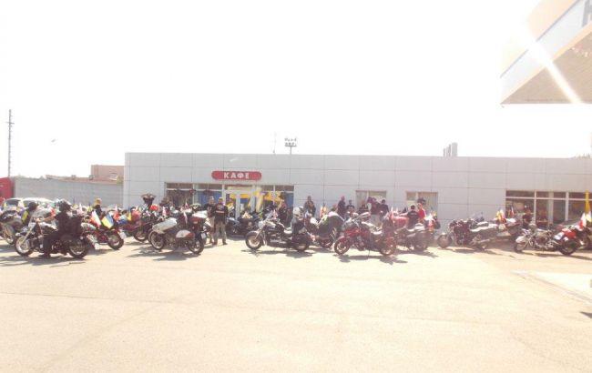 Фото: польські мотоциклісти на кордоні