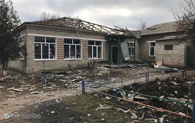 Фото: последствия обстрела Новолуганского (РБК-Украина)