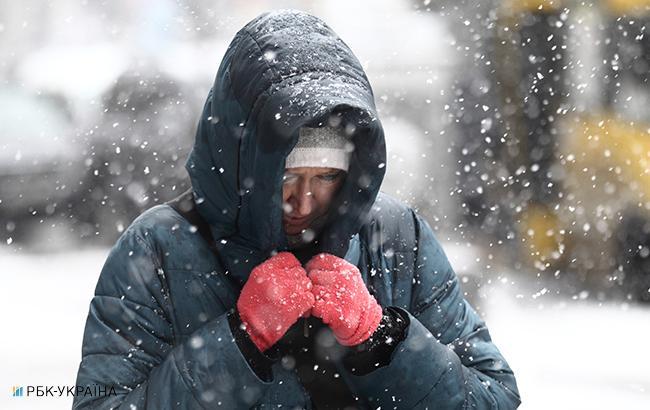 Фото: снег в Киеве (Виталий Носач, РБК-Украина)