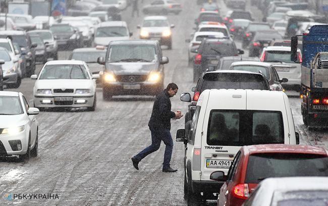 На дорогах Киева образовались многочисленные пробки
