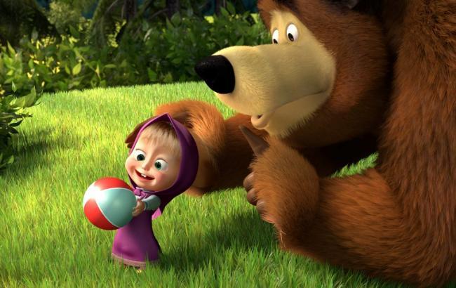 """Видео """"Маша и Медведь"""" – самое популярное в Украине"""