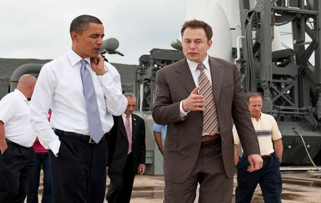 Фото: Барак Обама з власником SpaceX Илоном Маском (twitter.com)