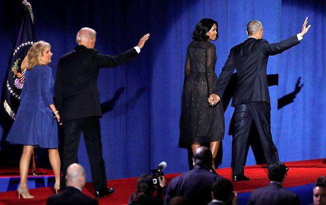 Барак Обама и Джо Байден покидают Белый дом