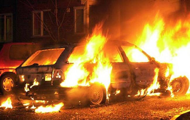 Фото: Пожежа в автомобілі