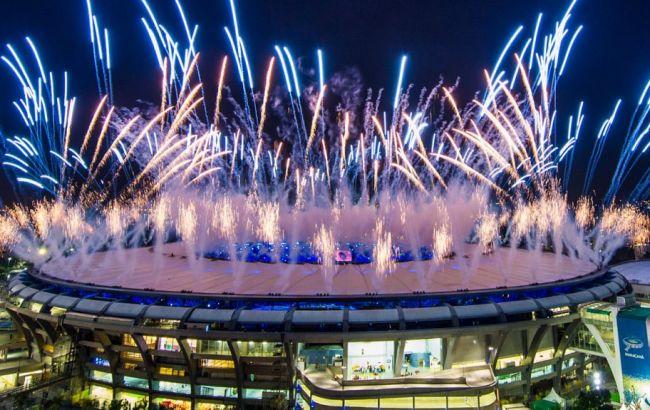 Фото: почти вся церемония закрытия Олимпиады-2016 прошла под дождем