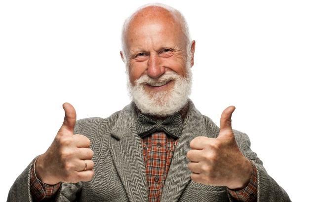 Картинки по запросу радостный пенсионер