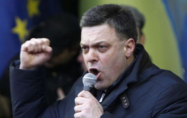 ГПУ допросила Тягнибока по событиям на Майдане