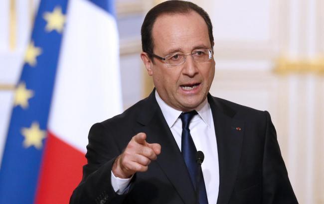 Олланд: Франція посилить удари по ІДІЛ в Сирії
