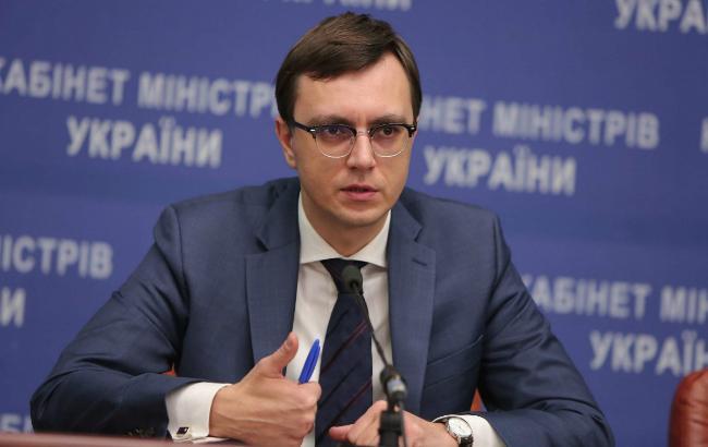Фото: міністр інфраструктури Володимир Омелян (прес-служба Кабміну)
