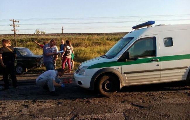 "Фото: место нападения на инкассаторов ""Ощадбанка"""