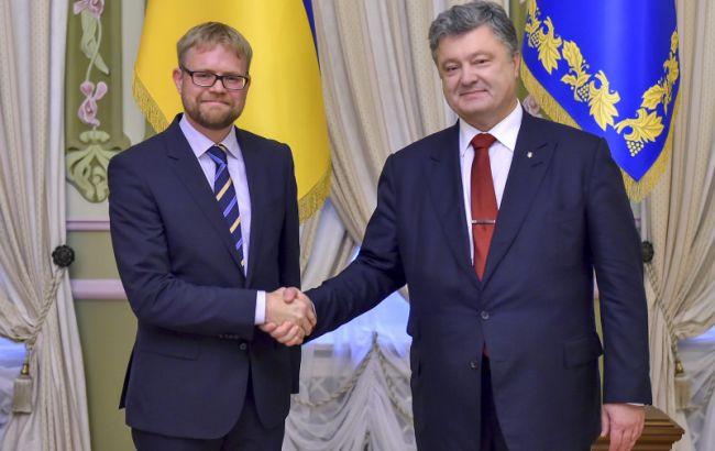 Фото: Мартін Хагстрьом і Петро Порошенко